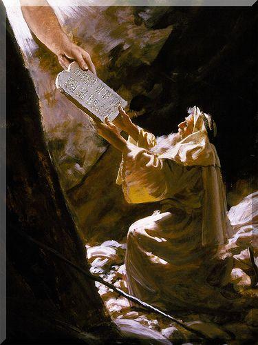 Sacra bibbia antico testamento esodo le nuove tavole della legge - Tavole dei dieci comandamenti ...